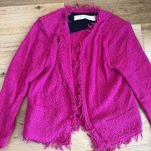 IRO HOT PINK Shavanispe Textured Fringe Jacket